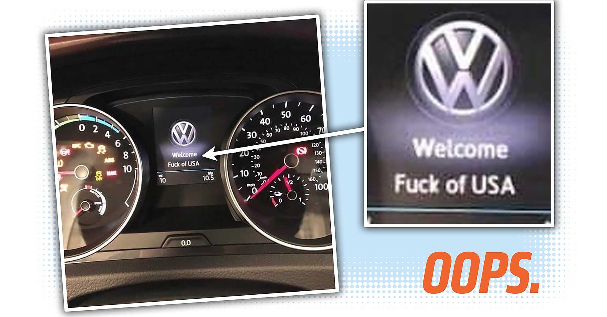 volkswagen fuck off