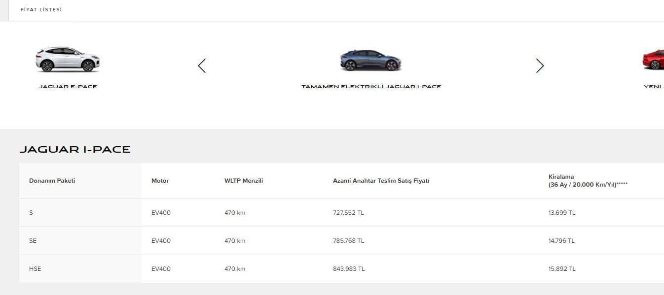 2020 Jaguar I-pace fiyat listesi https://huglero.com
