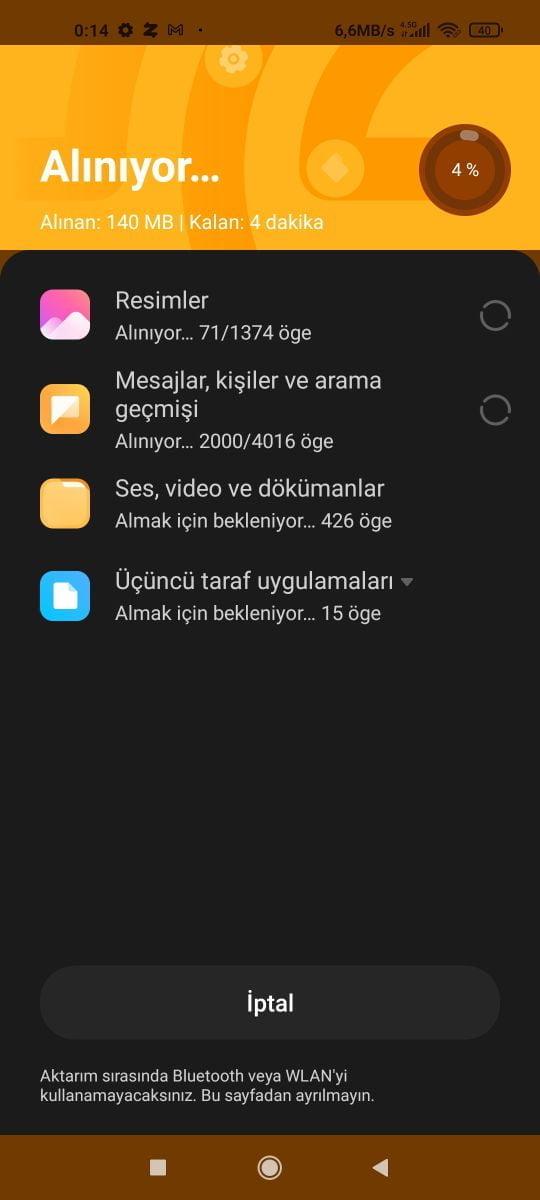 Xiaomi telefona veri aktarma sırası https://huglero.com