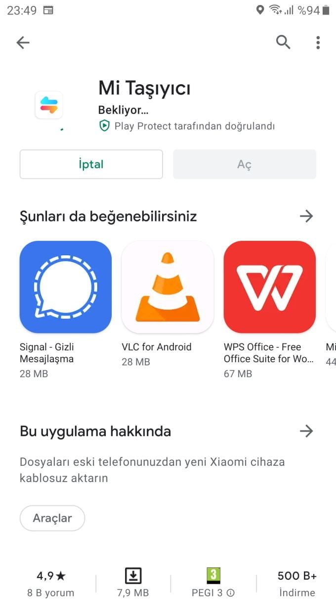 Xiaomi mi taşıyıcı ile telefona verileri aktarma https://huglero.com