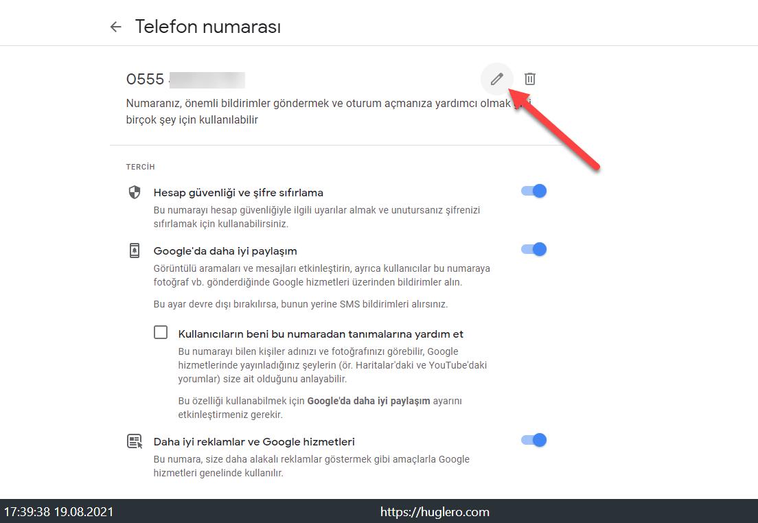 Gmail numara nasıl değiştirilir? https://huglero.com